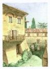 e castle courtyard